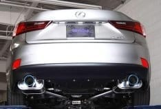 INVIDIA HS13LISG3T Q300 Axleback exhaust for Lexus IS350 (2013+) Ti Tips