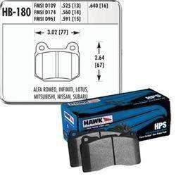 Hawk HPS Rear Brake Pads - Subaru STI / Mitsubishi Evo / 350Z / G35