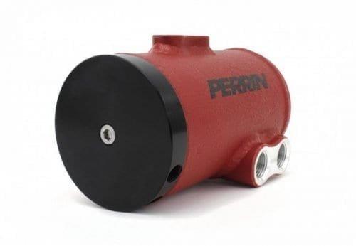 PERRIN (PSP-ENG-606RD)  AIR OIL SEPARATOR Kit for 08-13 WRX/STI Red Wrinkle Finish