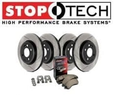 StopTech 934.42010 Street Axle Pack Front And Rear Incl. Slotted Rotors And Pads