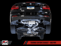 AWE Tuning 3010-33034 BMW F22 M235i / M240i Touring Edition Axle-Back Exhaust - Diamond Black Tips (102mm)