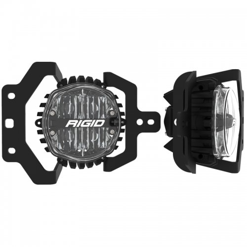 Rigid Industries 360-Series 4in LED SAE J583 Fog Light – 2018+ Jeep JL Sport/Sport S – White (Pair)
